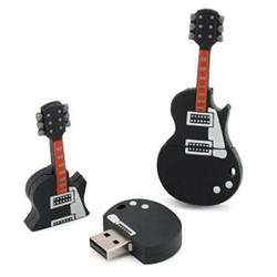 Clef USB 4Go ou 8GO en forme de guitare avec 10 CD Albums MP3 Rod Barthet + Bonus 1 & 2 démo + Album live inédit